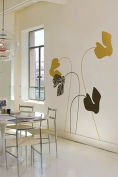 """not usually a fan of wall decals. make an exception for blik - """"cyclamen"""" by ilan dei."""