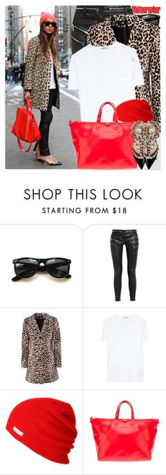 """""""Bloggers Style: Sincerely, Jules"""" by nastyaafanasova ❤ liked on Polyvore featuring Oris, Ray-Ban, Balmain, H&M, T By Alexander Wang, Neff, Marc Jacobs, Valentino, women's clothing and women"""