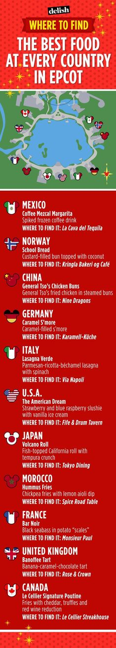 best food in each country in Epcot. Disney world. Disney Dining. UnofficialUniversal.com
