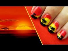 """The majestic and vibrant color palette from Disney's """"The Lion King"""" comes to life in this exclusive nail art tutorial from CutePolish!    A Disney Exclusive from http://YouTube.com/user/CutePolish.    Let us know what your favorite nail style is in the comments below.    SUBSCRIBE to get notified when new nail design videos are posted!    Learn the mag..."""
