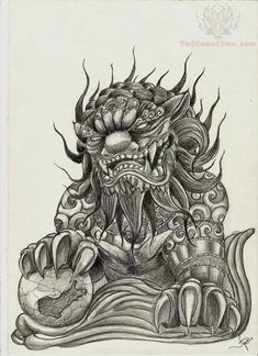 Download Free ... tattoo art tats dante tattoos foo dog tattoo design tattoo lion to use and take to your artist.
