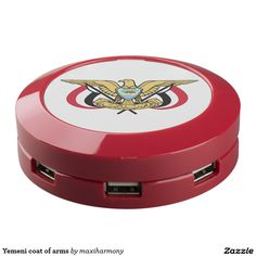 Yemeni coat of arms USB charging station
