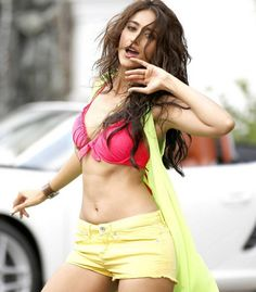 Ileana D'Cruz Hot In Pink Bikini