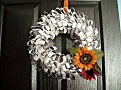 Create a wreath with newspaper