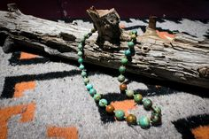 Chinese Turquoise and Kingman Heishi Necklace by NativeAmericanBling on Etsy