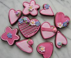 many pink hearts by tam mabley-chaisson, via Flickr  Cookie Deco Ideas