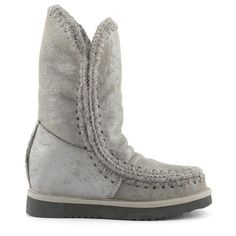e62ac1015b7 mou inner wedge boots  eskimo wedge tall - mou footwear Wedge Boots