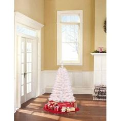 4 Ft PreLit Clear White Indiana Spruce Artificial Christmas Tree ** Click on the image for additional details.
