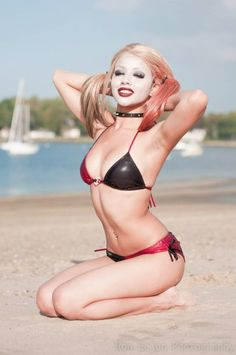 Harley Quinn playing on the beach! By the niceKitty Young. Photo byRon Gejon Photography.