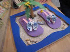money gift with flip flops