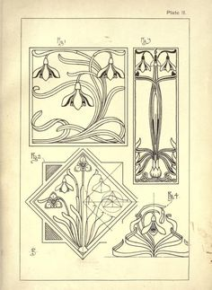 27 ideas art deco design tattoo ink - Welcome to our website, We hope you are satisfied with the content we offer. Fleurs Art Nouveau, Motifs Art Nouveau, Azulejos Art Nouveau, Design Art Nouveau, Motif Art Deco, Bijoux Art Nouveau, Art Nouveau Pattern, Pattern Art, Pattern Design