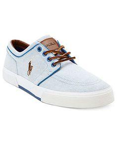 Polo Ralph Lauren Shoes, Faxon Low Sneakers - Mens Shoes - Macy's