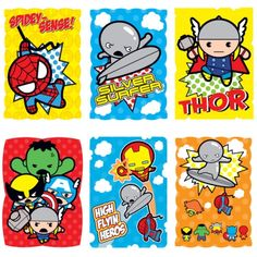 A veteran pseudo-fictioneer. - Marvel Kawaii Art Collection Stickers