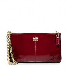 Madison Patent Large Wristlet With Chain.    Mom wld love this!!!❤