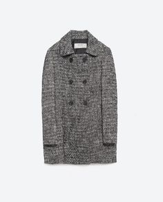 Image 8 of WOOL HERRINGBONE COAT from Zara