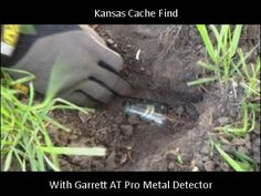 http://www.HighPlainsProspespectors.com Metal detector cache find in near old house with Garrett AT Pro metal detector.  Overland Park, Kansas area.