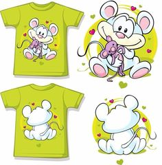 Vector Serigrafia Kid shirt with cute mouse printed vector on VectorStock&reg Tutorial Photoshop, Cute Mouse, Drawing Clothes, Digi Stamps, Kids Prints, Clipart, Vector Art, Illustration, Kawaii