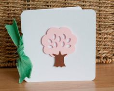 Thank You Notes Baby Shower Pink Tree and by CardinalBoutique, $70.00