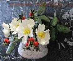 Мастер-класс по керамической флористике: Белый шиповник