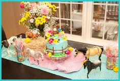 Vintage girly horse party