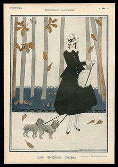Geneviève Granger-Donilo 1916 ''Les Griffons Belges'' Autumn Elegant