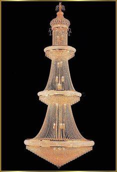 "Large Crystal Chandeliers Gallery Model: VI 3115 (52"" x 120"")"