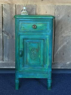 Turquoise Furniture, Painted Furniture, Diy Furniture, Painted File Cabinets, Annie Sloan Chalk Paint, Milk Paint, Garden Art, Cupboard, Filing Cabinet