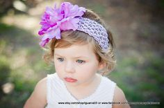 I love this flower.  Purple Peony with Purple Headband Perfect for Infant by iguania03