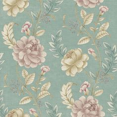 2669-21758 Grey Floral Trail - Summer Palace - Empress Wallpaper by Beacon House
