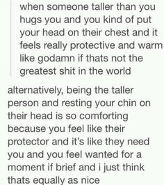 This is why I will always enjoy having a taller boyfriend