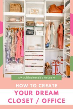 I have been working from home for over 2 years now and never had a spade to myself! Until now! I turned a space in my home into a CLOFFICE! (It's a closet and office space combined!) And I love it! I'll take you through the planning process all the way to the big reveal! You too are going to fall in love with the cloffice! Come on in and see what you think! #workfromhome #bloggerbabes #cloffice