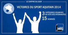 Les Victoires du sport aquitain : les internautes ont pu s'exprimer et voter sur les sites internet de France Bleu, France 3 Aquitaine et la Région Aquitaine pour désigner les meilleurs sportifs aquitains.