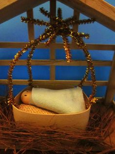 Homespun With Love: Baby Jesus Ornament