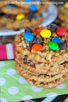 Zucchini Monster Cookie Recipe - You would NEVER know these have zucchini in them! They are AMAZING!!