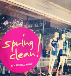 SHAKUHACHI SPRING CLEAN!   Up to 30% off selected items in stores and online now: www.shakuhachi.net