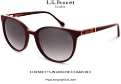 LK BENNETT SUN LKBSUN13 C3 DARK RED Lk Bennett, Bond Street, Dark Red, Eyewear, Sun, London, Luxury, Stylish, Design