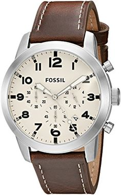 online shopping for Fossil Men's Pilot 54 Chronograph Watch Brown Leather Band from top store. See new offer for Fossil Men's Pilot 54 Chronograph Watch Brown Leather Band Fossil Watches For Men, Wrist Watches, Mens Watches Leather, Stainless Steel Case, Quartz Watch, Jewelry Stores, Omega Watch, Chronograph, Band