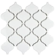 Merola Tile, Metro Lantern Glossy White 9-3/4 in. x 10-1/4 in. x 6 mm Porcelain Mosaic Floor and Wall Tile, FDXMLGW at The Home Depot - Mobile