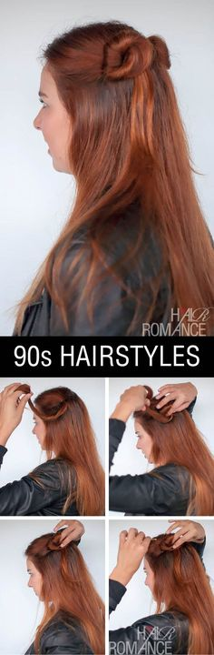 90S NORMCORE HAIR TUTORIALS – HALF UP DOUBLE BUNS #hairstyles