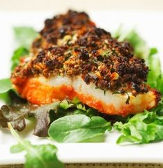 White Fish with Herb Duxelles Recipe.