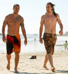 """Taylor with Aaron in """" Savages """"/ my two dream guys :)"""