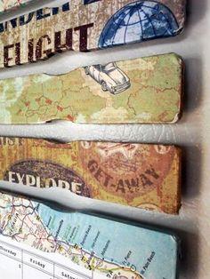 Decoupage Paint Stick Magnets | Stow&TellUStow&TellU