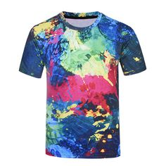 c1f81a54 2017 Colorful Paint Print T-shirt Men/Women T-shirt Camouflage Style Summer  Tshirt Tops Tees Plus Size