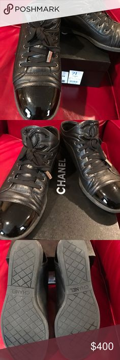Authentic Chanel Sneakers 💯Authentic Chanel Sneakers in great condition, no tears, scratches or marks CHANEL Shoes Sneakers