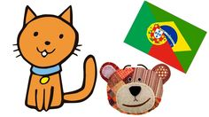 Pets for kids in portuguese - Sound and names