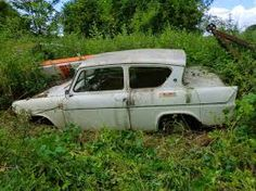 ford anglia 1959-1967 Abandoned Cars, Abandoned Vehicles, Ford Anglia, Rust In Peace, Classic Car Restoration, Rusty Cars, Barn Finds, Old Cars, Classic Cars
