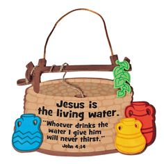 """Jesus Is The Living Water"" Sign Craft Kit - OrientalTrading.com"