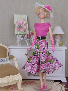 Winsome Pink for Barbie & Victoire Roux by HankieChic on Etsy