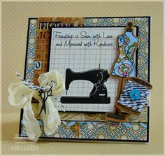 sewing card <3 it