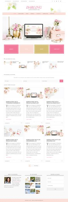 Darling // An Ecommerce Genesis Child Theme - Versatility and Personalization is what we are about! The Darling theme is all that and more! This theme can be used for any genre of blog or site, can be customized to fit your images and style, and completely make it your own!